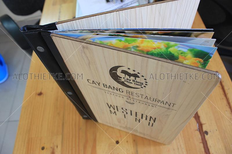 In menu - thực đơn gỗ tại phan thiết